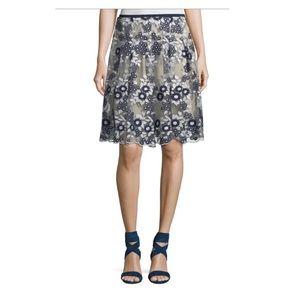 T Tahari Embroidered Skirt